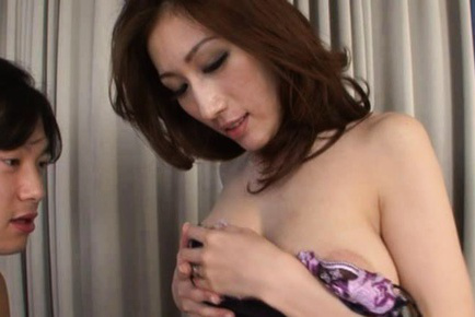 Julia. JULIA Asian dame shows big hot anus while erotically licks cock