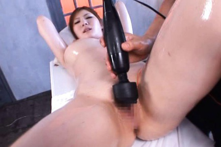 Momoka nishina. Momoka Nishina Asian with oil on big hooters is fuck with dildo