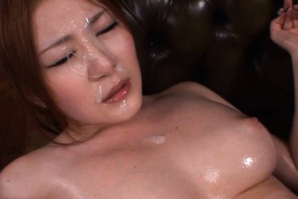 Momoka nishina. Momoka Nishina Asian with naughty oiled boobs gets cumshot on face