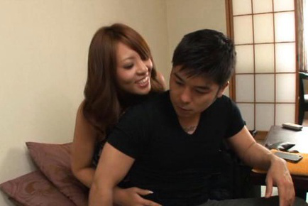 Yuu sakura. Yuu Sakura Asian with great boobs has poonanie rubbed over thong