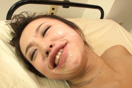 Kaede niiyama. Kaede Niiyama Asian with considerable round hooters gets ejaculate on her face