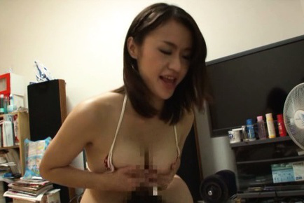 Kaede niiyama. Kaede Niiyama Asian cock sucking dick before rubbing it with large assets