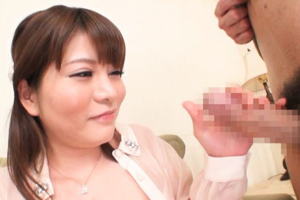 Kurumi kokoro. Kurumi Kokoro Asian with hard tits gets boner in