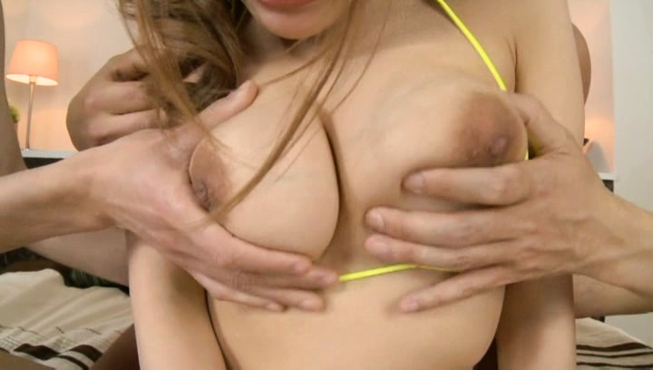 Yuna nanjyou. Yuna Nanjyou Asian has big boobs touched over delicious bra by hunks