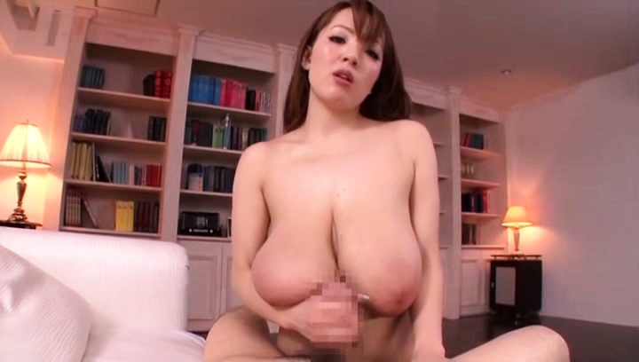 Hitomi. Hitomi Asian puts immense cans on fellow face and on his dick